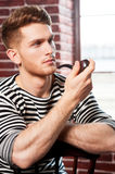 Smoking pipe. Royalty Free Stock Photo