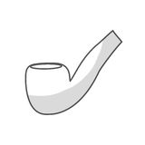 Smoking pipe icon image Royalty Free Stock Photography