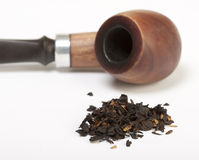 Smoking pipe and tobacco Stock Photos