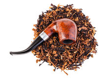 Smoking pipe and tobacco Royalty Free Stock Photography