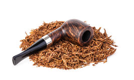 Smoking pipe and tobacco Royalty Free Stock Images
