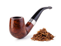 Smoking pipe and tobacco Royalty Free Stock Image
