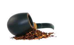 Smoking pipe and tobacco Royalty Free Stock Photos