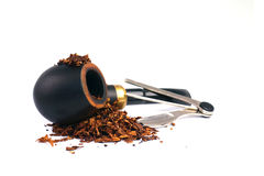 Smoking pipe, tobacco and pipe tool Stock Images
