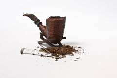Smoking pipe and tobbaco Royalty Free Stock Photography