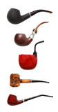 Smoking pipes collage Stock Photography