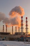 Smoking Pipes Of Thermal Power Plant Stock Image