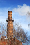 Old smoking chimney of thermal power station Royalty Free Stock Photos