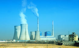 Smoking pipes of thermal power plant Royalty Free Stock Photography