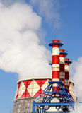 Smoking pipes of thermal power station Royalty Free Stock Photos
