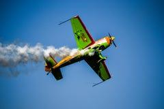 Smoking Plane Stock Photography