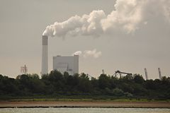 Smoking power plant Stock Photography