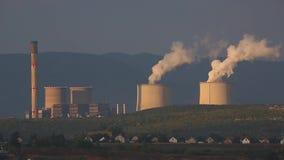 Smoking power plant stock footage