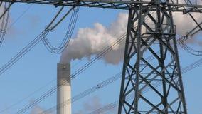 Smoking power plant. Chimney closeup stock video