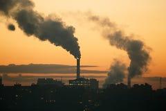 Smoking power plant Royalty Free Stock Photography