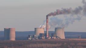 Smoking power plant stock video footage