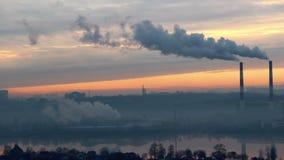 Smoking Power Plant stock video