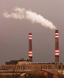 Smoking power station Stock Images