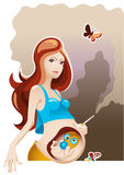 Smoking and Pregnancy Royalty Free Stock Images