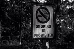 Smoking is prohibited Royalty Free Stock Photo