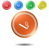 Smoking push button set,3D illustration. Smoking push button set,best 3D illustration Royalty Free Stock Photo