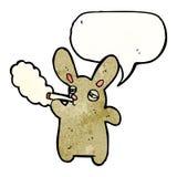 Smoking rabbit cartoon Royalty Free Stock Photo