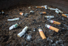Smoking represents a health hazard. Illustrate general And add text royalty free stock photo