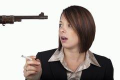Smoking rifle Stock Photography
