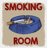 SMOKING ROOM OR REST AREA SYMBOL. Vector art sign symbol or illustration Royalty Free Stock Image