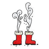 smoking santa boots Royalty Free Stock Images