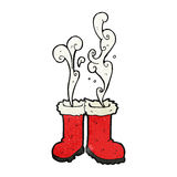 smoking santa boots Stock Image
