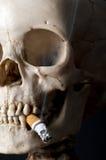 Smoking scull Stock Photo