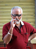 Smoking Senior Stock Images