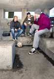 Smoking shelter Royalty Free Stock Image