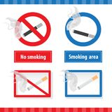 Smoking signs Royalty Free Stock Photos