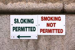 Smoking Signs Stock Images
