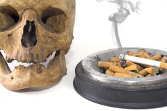 Smoking Skull 1 Royalty Free Stock Photo