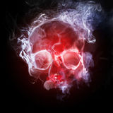 Smoking skull vector illustration