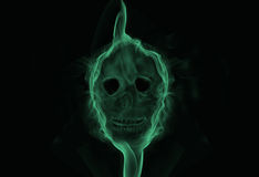 Smoking skull. Illustration of smoke forming a skull Stock Photos