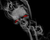 Smoking skull Stock Photography