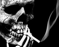 Smoking skull Royalty Free Stock Photo