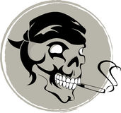 Smoking skull. Vector illustration of smoking skull Royalty Free Stock Photo