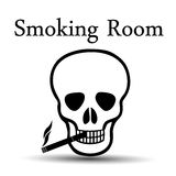 Smoking skull stock illustration