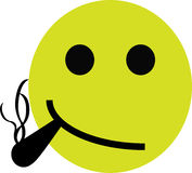 Smoking Smiley Royalty Free Stock Photos