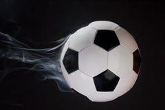 Smoking Soccer Ball Royalty Free Stock Photos