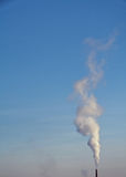 Smoking stack of coal power plant Royalty Free Stock Images