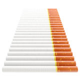 Smoking: staircase made of cigarettes. Isolated on white royalty free illustration