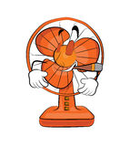 Smoking table fan cartoon Stock Photo