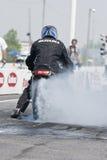 Smoking tire 2 Stock Photos