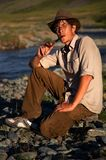 Smoking tobacco-pipe Stock Photography